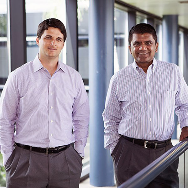 Kevin Mitchell and Paresh Patel see a big opportunity in the Florida flood insurance market. Photo by Mark Wemple